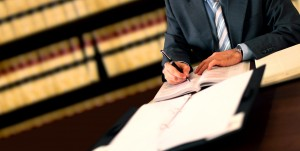 Lawyer signing Power Of Attorney Document